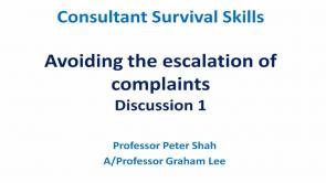 Avoiding the Escalation of Complaints Discussion 1